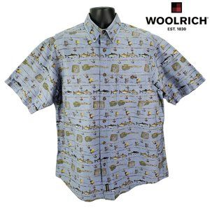 Woolrich Men's L Large Fly Fishing Button Up Shirt